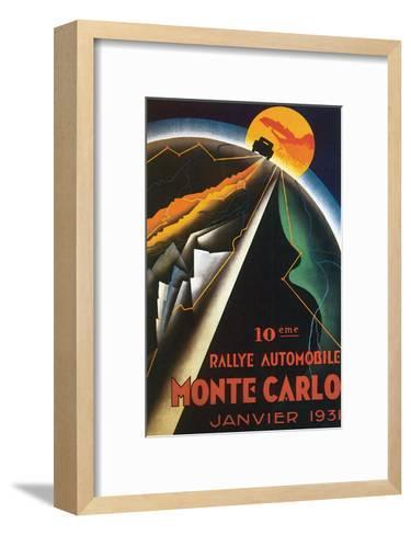 10eme Rallye Automobile Monte Carlo--Framed Art Print