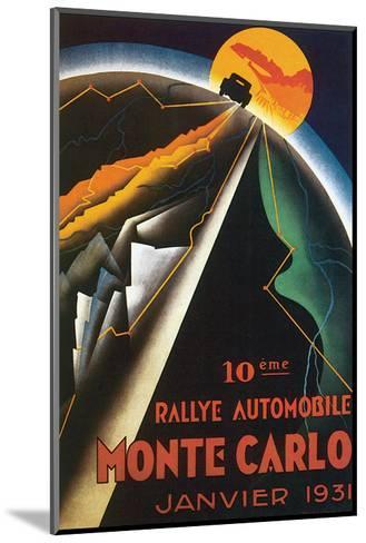 10eme Rallye Automobile Monte Carlo--Mounted Art Print