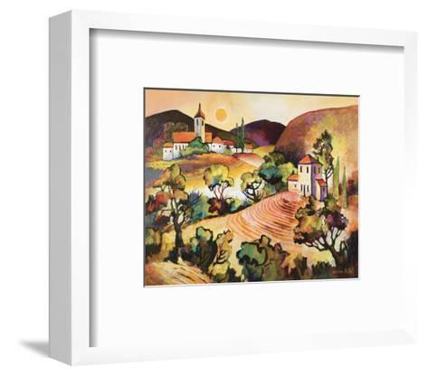Tuscan Landscape 1-Warren Cullar-Framed Art Print