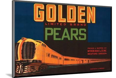 Golden Limited Brand Pears--Mounted Art Print