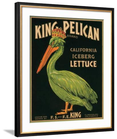 King Pelican Brand California Iceberg Lettuce--Framed Art Print