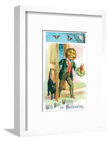 With Best Wishes for Halloween--Framed Art Print