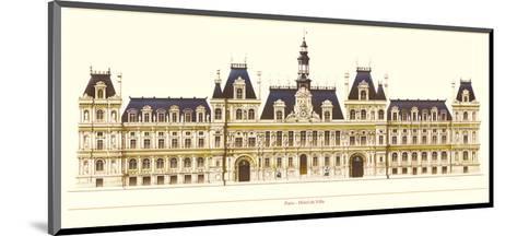Paris, Hotel de Ville-Libero Patrignani-Mounted Art Print