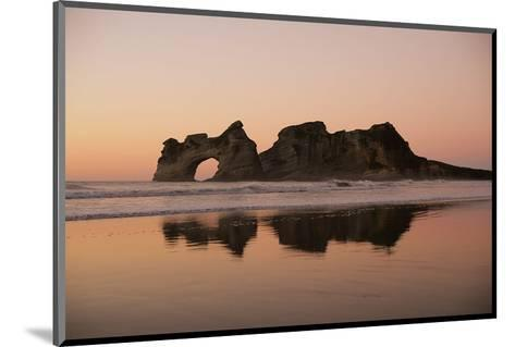Rock with a Hole in Sunset--Mounted Art Print