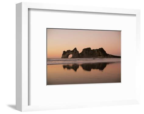 Rock with a Hole in Sunset--Framed Art Print