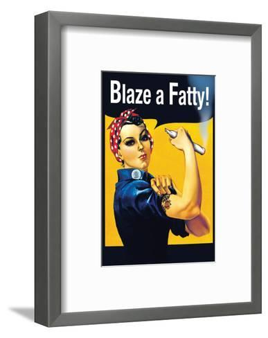 Blaze a Fatty--Framed Art Print