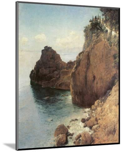 Cliffs near Final-Marina-Eugen Bracht-Mounted Art Print