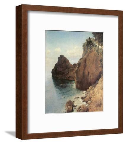 Cliffs near Final-Marina-Eugen Bracht-Framed Art Print