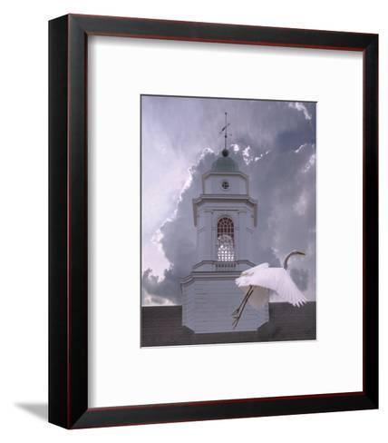 Steeple Flyby-Steve Hunziker-Framed Art Print