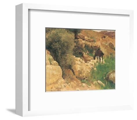 Ancient Source in Syria-Eugen Bracht-Framed Art Print