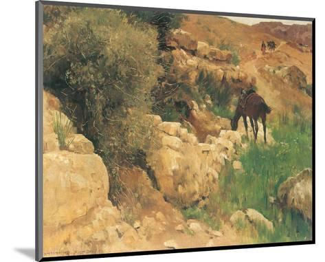 Ancient Source in Syria-Eugen Bracht-Mounted Art Print