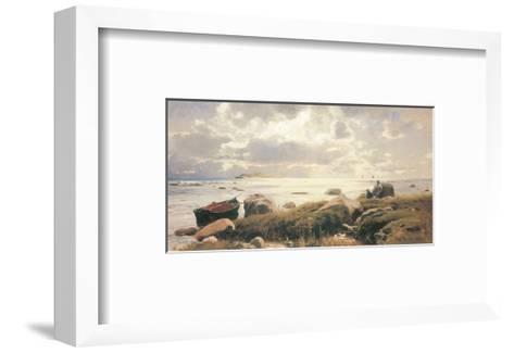 On the Coast of Ruegen-Eugen Bracht-Framed Art Print