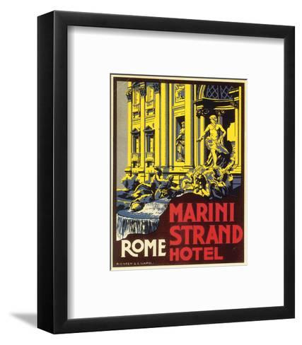 Marini Strand Hotel, Richter & Napoli--Framed Art Print