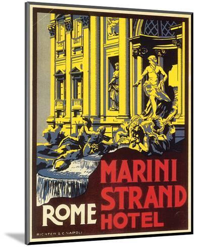 Marini Strand Hotel, Richter & Napoli--Mounted Art Print