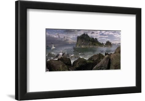 Seastack Gullage-Steve Hunziker-Framed Art Print