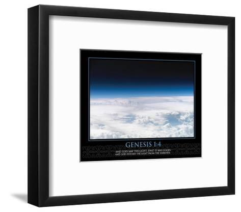 Genesis 1:4--Framed Art Print