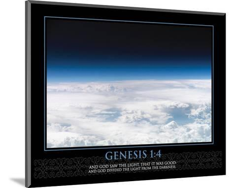 Genesis 1:4--Mounted Art Print