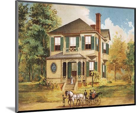Victorian House, No. 10--Mounted Art Print