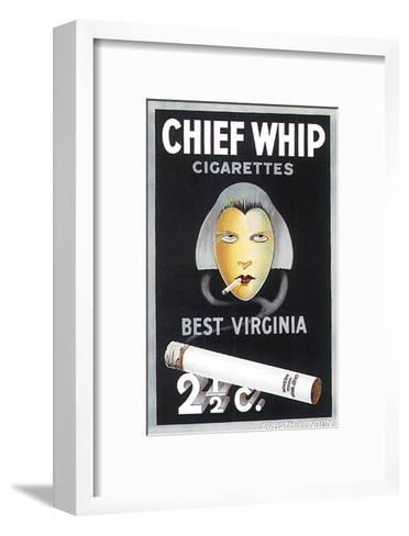 Chief Whip Cigarettes--Framed Art Print