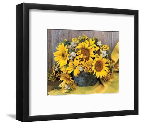 Sunflower Arrangement II--Framed Art Print