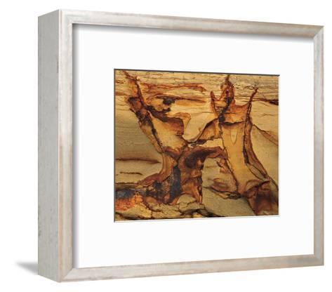 Cracked Sand Stone--Framed Art Print