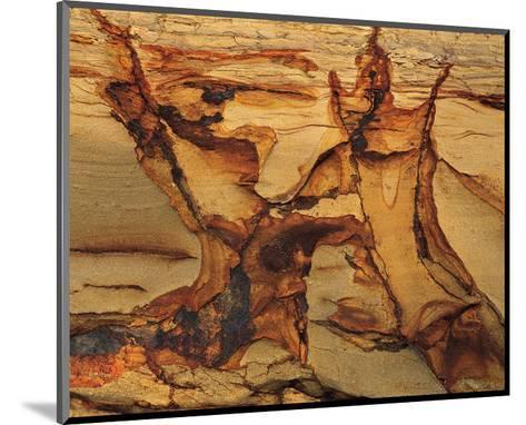 Cracked Sand Stone--Mounted Art Print