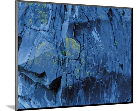 Blue Fragmentation--Mounted Art Print