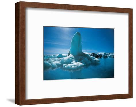 Glacerlake Jokulsarlon Iceland--Framed Art Print