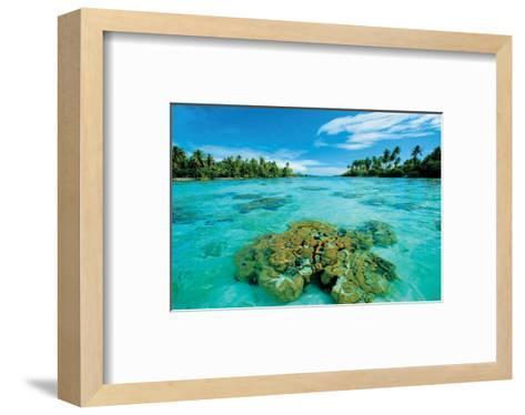 Atoll Island--Framed Art Print