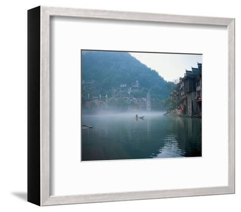 Thai Boating In Morning Mist--Framed Art Print