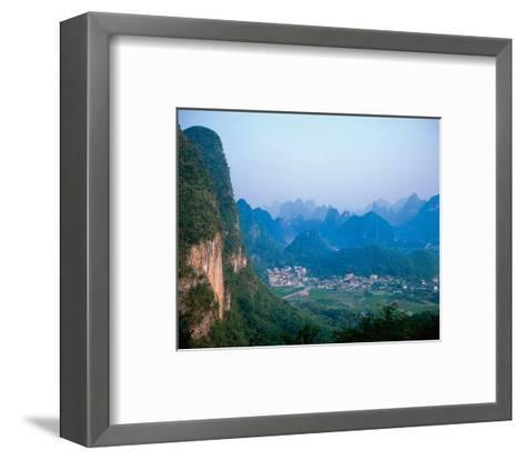 Village Wulingyuan Mountains--Framed Art Print
