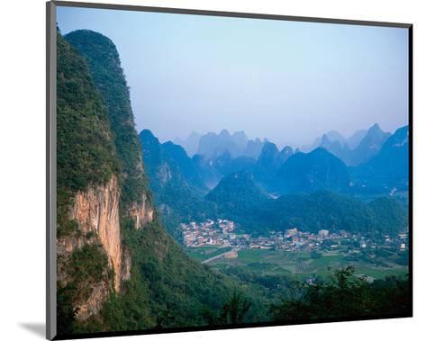 Village Wulingyuan Mountains--Mounted Art Print
