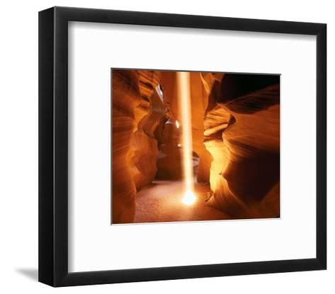 Sun Ray In Antelope Canyon--Framed Art Print