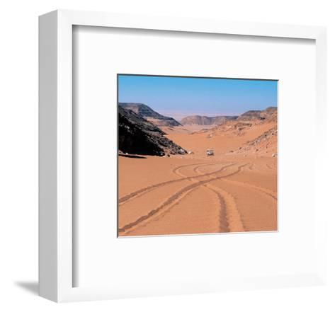 Drive Through The Desert--Framed Art Print