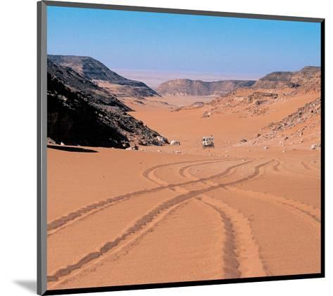 Drive Through The Desert--Mounted Art Print