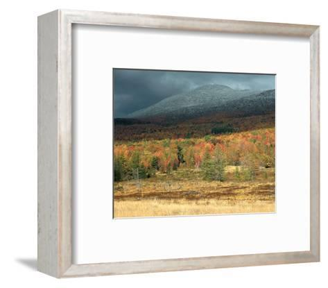 First Snow Storm Of The Season--Framed Art Print