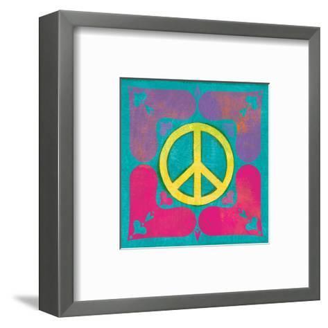 Peace Sign Quilt III-Alan Hopfensperger-Framed Art Print
