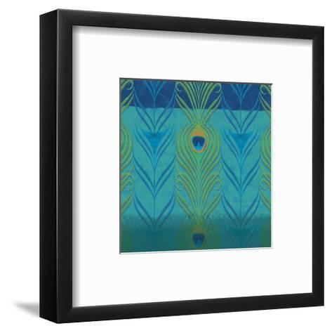 Peacock Bath V-Alan Hopfensperger-Framed Art Print