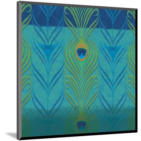 Peacock Bath V-Alan Hopfensperger-Mounted Art Print
