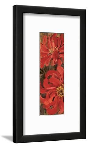 Floral Frenzy Red III-Alan Hopfensperger-Framed Art Print