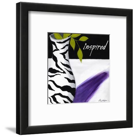 Zebra Vase II-Cathy Hartgraves-Framed Art Print