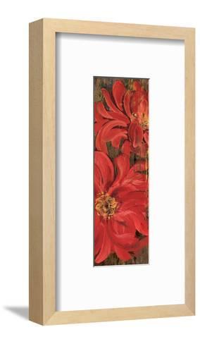 Floral Frenzy Red IV-Alan Hopfensperger-Framed Art Print