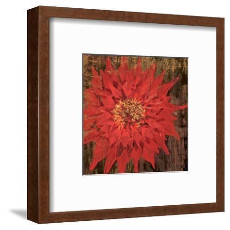 Floral Frenzy Red VI-Alan Hopfensperger-Framed Art Print