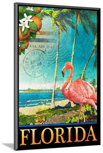 Flamingo-Chris Vest-Mounted Art Print