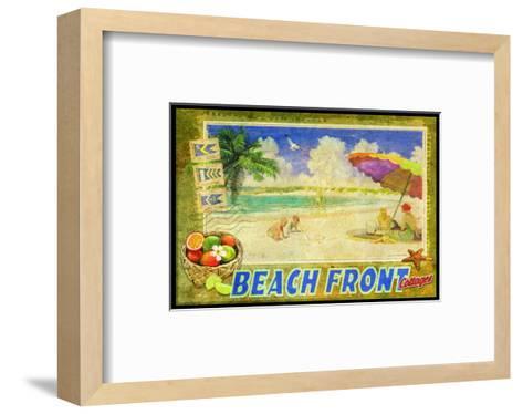 Beach Front-Chris Vest-Framed Art Print