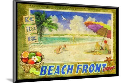 Beach Front-Chris Vest-Mounted Art Print