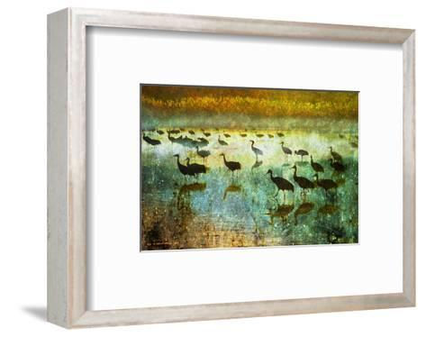 Cranes in Mist I-Chris Vest-Framed Art Print