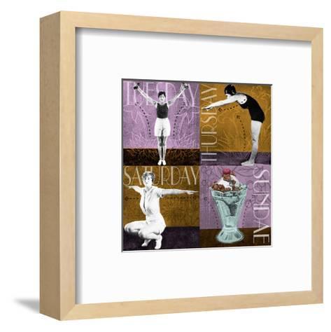 Weekly Workout: Tuesday, Thursday, Saturday, Sundae--Framed Art Print