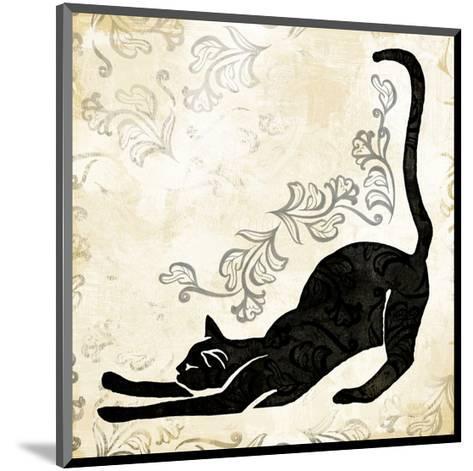 Stretching Burlap Cat-Alan Hopfensperger-Mounted Art Print