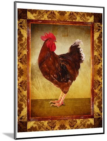 Brown Hen--Mounted Art Print